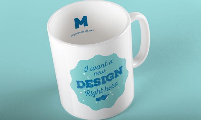 Free Elegant Mug Mockup PSD