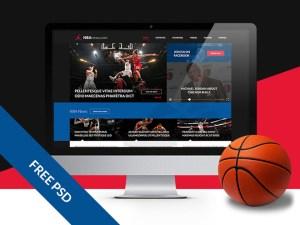 free sport website template