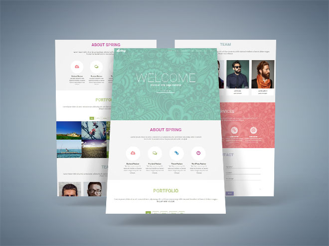 Spring : Free One Page Business Wordpress Theme