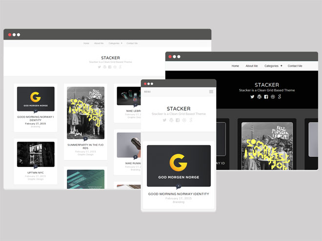 Stacker : Responsive Portfolio WordPress Theme