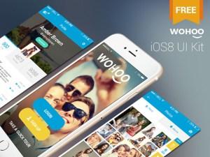 Wohoo : Free Mobile iOS 8 UI Kit