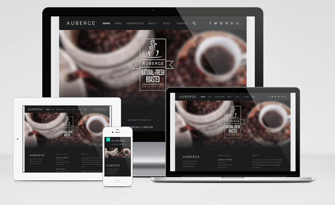 Auberge : Free Responsive Cafe Wordpress Theme