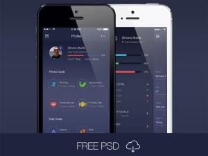 Free Workout App UI Kit PSD