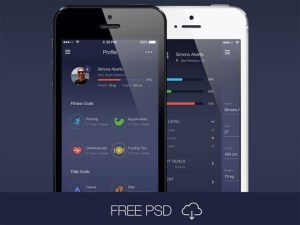 Free Workout App UI Kit PSD