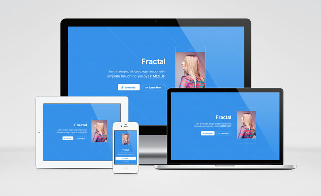 Fractal : Free Simple One Page HTML Template