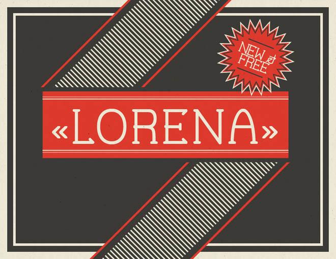 Lorena Free Typeface
