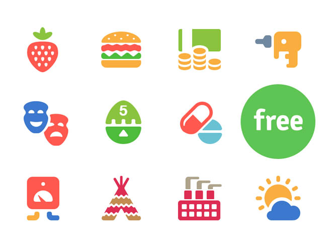 Cosmo : 100 Free Colorful icons