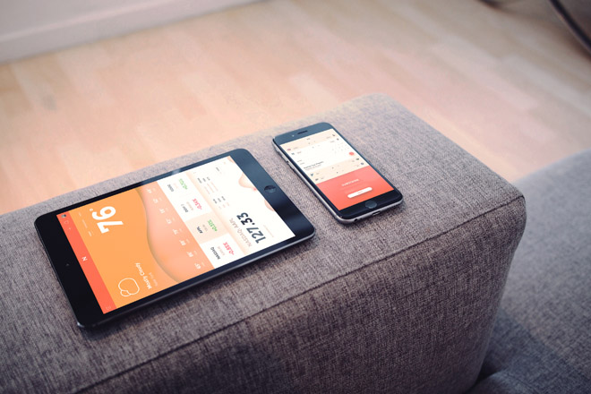 Free Photographic iPad + iPhone PSD Mockup