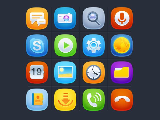 16 Free iOs 9 Style icons
