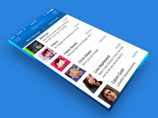 3D Mobile App Mockup