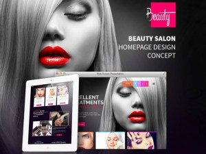Beauty - Free Salon PSD Website Template