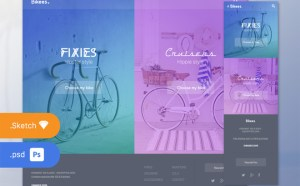 Bikees : Free Bicycle Website Template (PSD and Sketch)