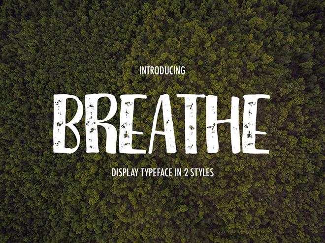Breathe : Free Display Font
