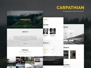 Carpathian : One Page PSD Tempate