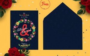 Enamora : Free Save The Date Card PSD Template