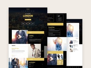 Evently : Free Event & Conference PSD Template