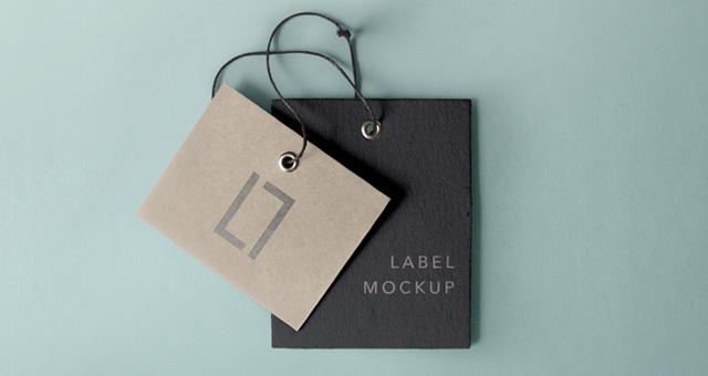 Free Cardboard Label Mockup