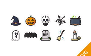 Free Halloween Icon Set (SVG)