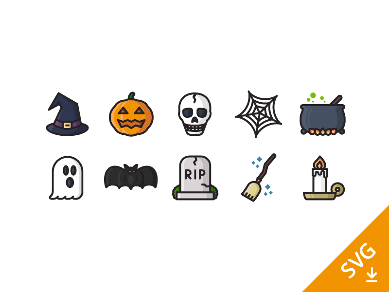 Free Halloween Icon Set (SVG)