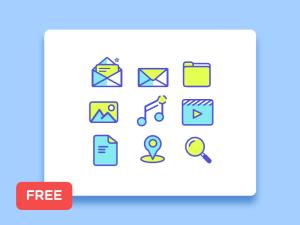 Free Minimal Line Icon Set (Sketch)
