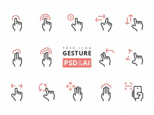 Rena Gesture Icon Set (AI and PSD)