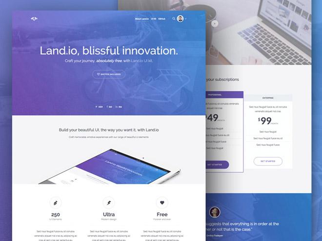 Land.io : Free Startup Landing Page Template