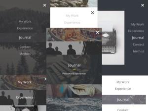 mobile menu ui kit