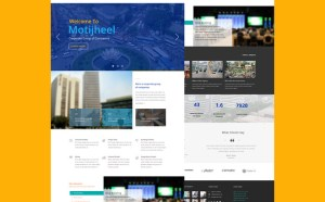 Motijheel Single Page PSD Template