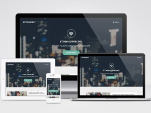 Retrospect : Modern Landing Page Template