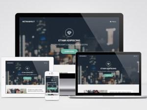 Retrospect : Modern Landing Page Template