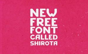 Shirota Free Typeface