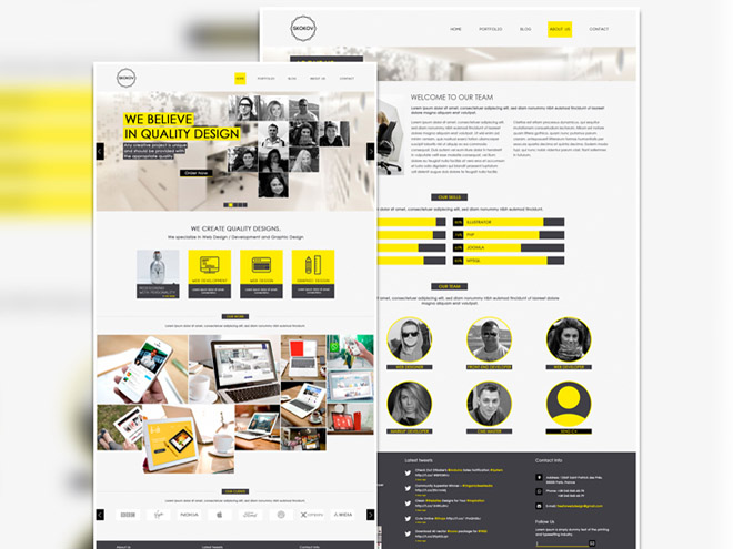 Skokov : Modern PSD Template for Creative Agency