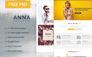 Anna : Free Multipurpose PSD Template