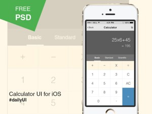 Calculator App UI PSD