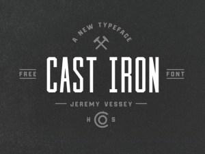 Cast Iron : Free Condensed Font