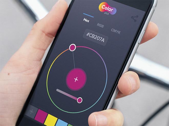 Color Picker App UI Design (Sketch)