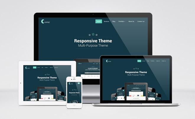 Corpbiz : Free Responsive Multi-purpose Wordpress Theme