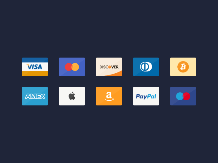 Free Credit Cards Icon Set