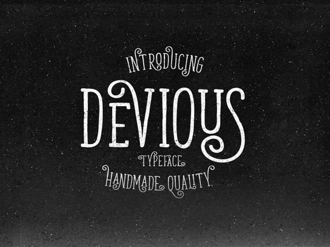 Devious : Free Simple Retro Font