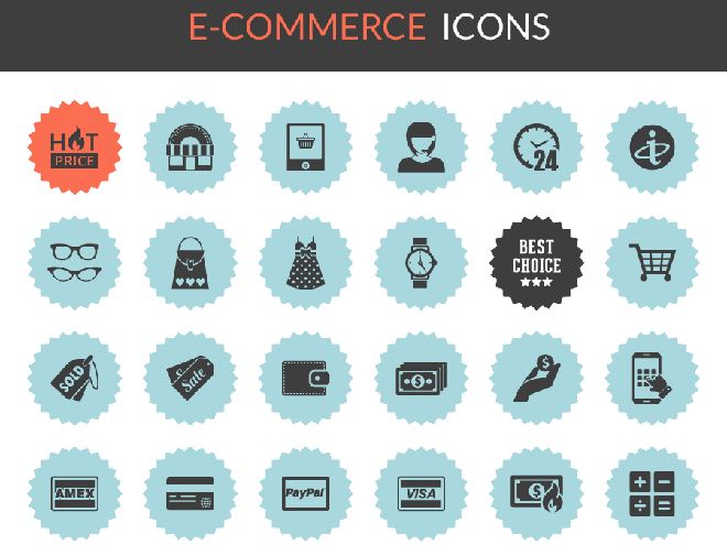 36 Free High Quality Ecommerce Icons