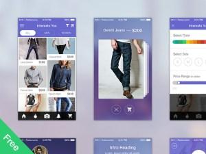 Ecommerce App UI Kit PSD
