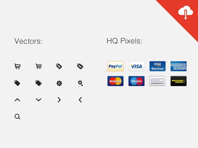 21 Free e-Commerce Icons