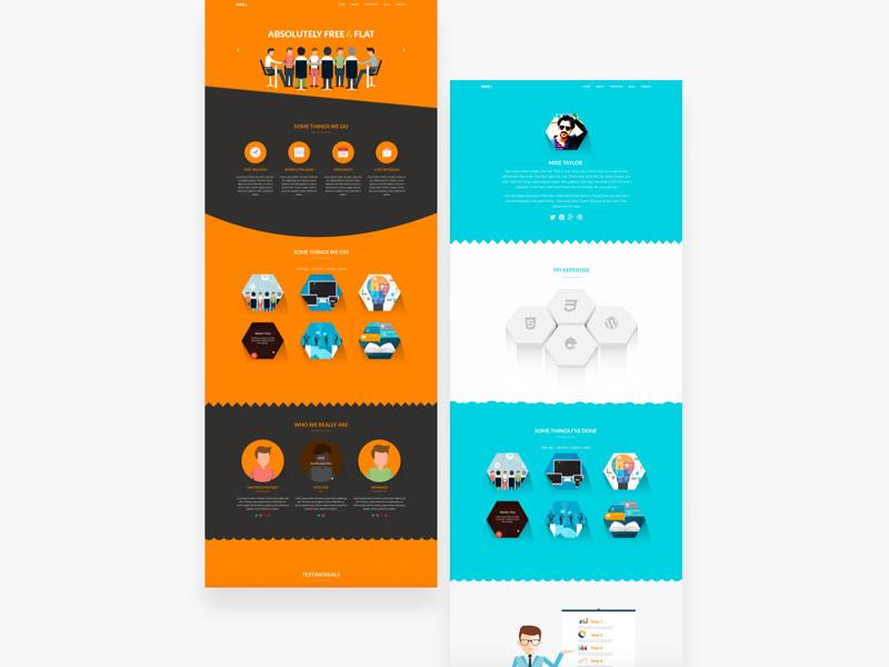 Free Flat Design PSD Template