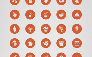 50 Free Food Icon PSD