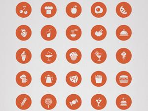 50 Free Food Icon PSD