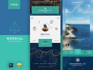 Nerdial : Free Flat Mobile UI Kit