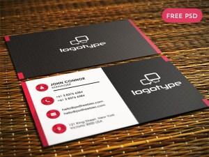 Free Porfessional Business Card PSD