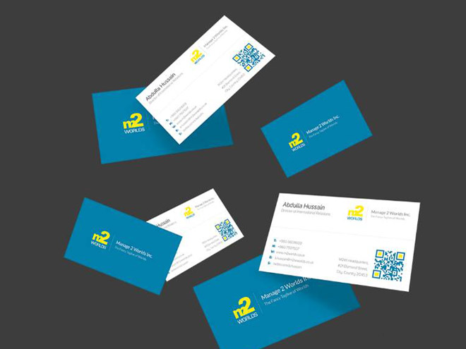 Free QR Code Business Card Template