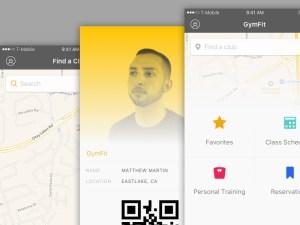 GymFit Fitness App UI (Sketch)