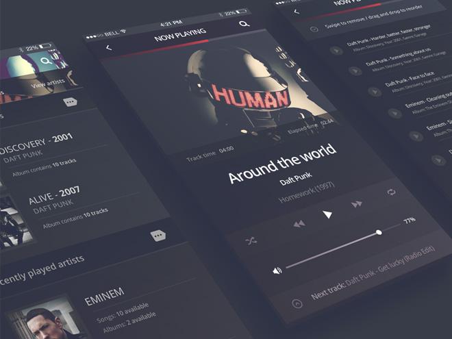 Philomela - iPhone 6 App Audio Player